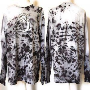 Snag tie dye long sleeve t shirt, Sz med & xl